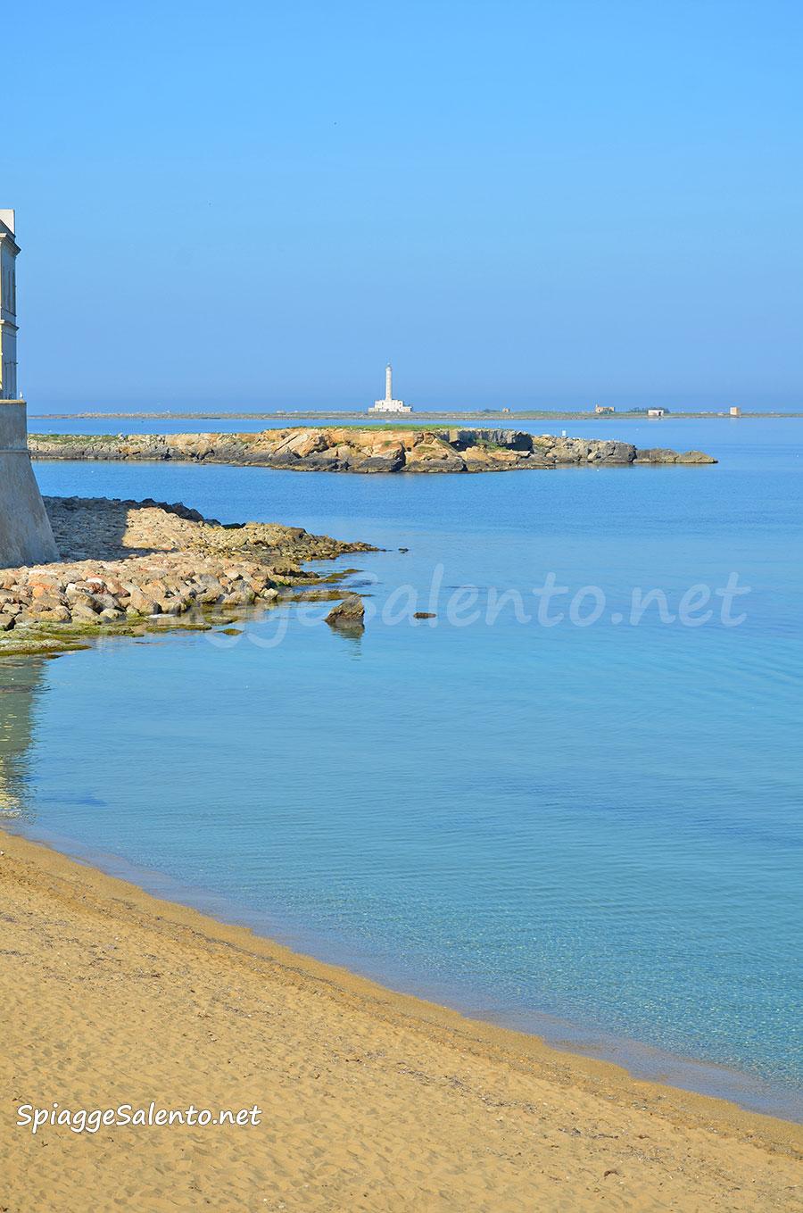 La spiaggia della Puritate a Gallipoli nel Salento