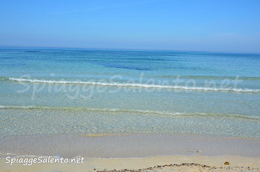 la spiaggia Rivabella di Gallipoli nel Salento
