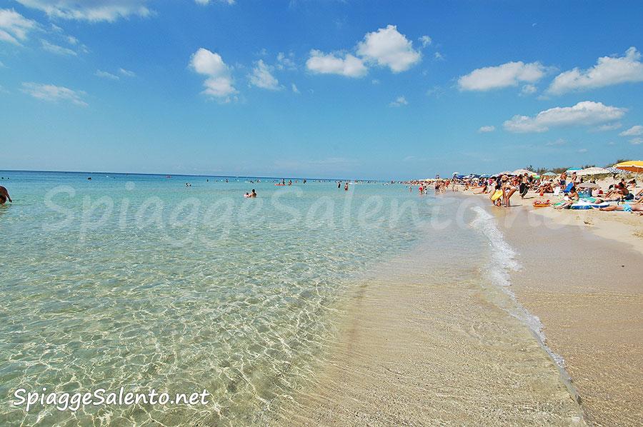 la spiaggia Maldive in Puglia