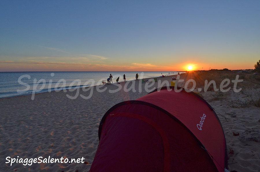 tramonti sulle spiagge del Salento