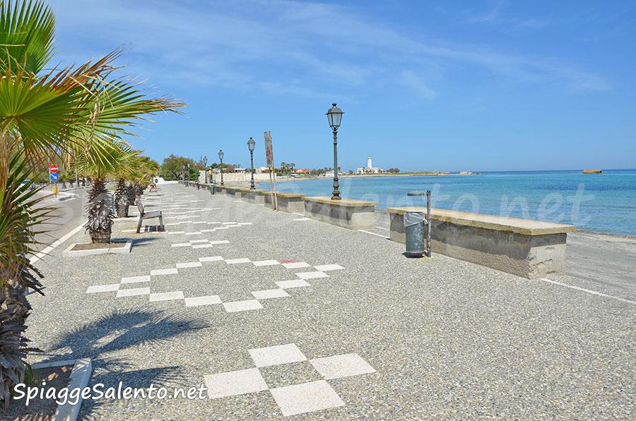 La spiaggia di San Cataldo nel Salento